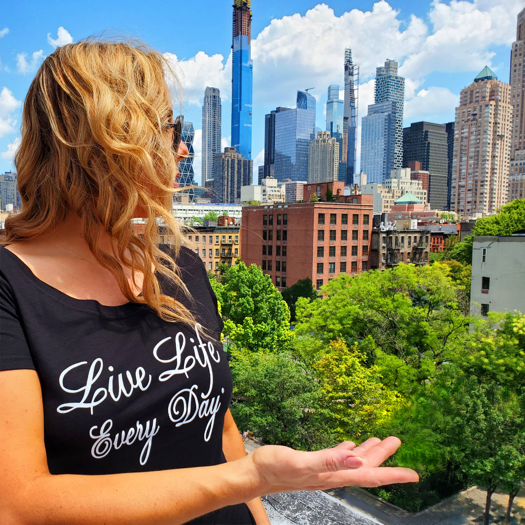 Live Life Every Day - Green and Sustainable Clothing, T-Shirts and Hoodies made with Organic Cotton, Bamboo, Recycled Polyester and water based inks