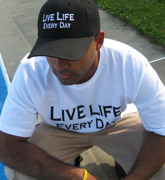 Live Life Every Day Flex-Fit Hat - Live Life Every Day
