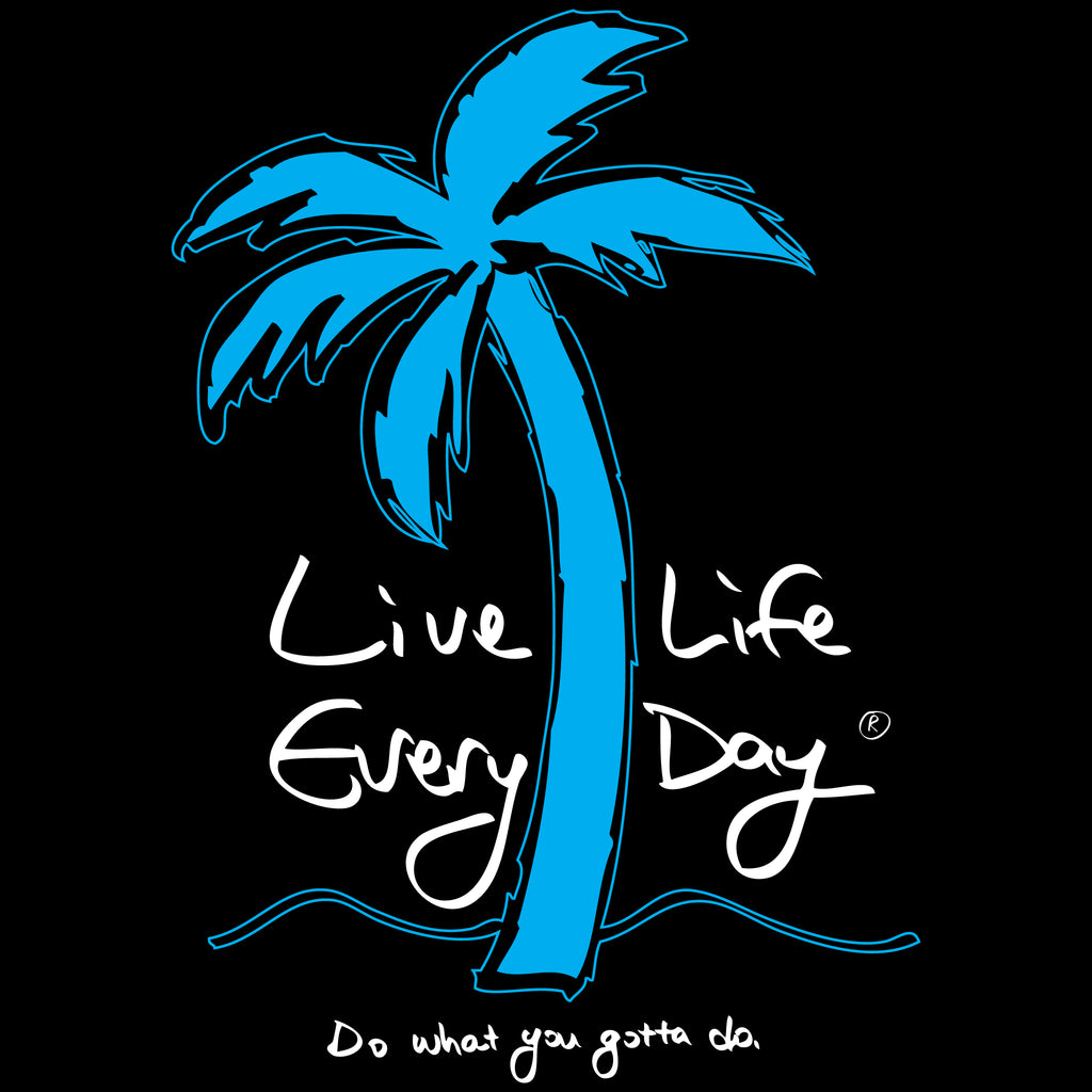 Logo Zip Hoody - Live Life Every Day