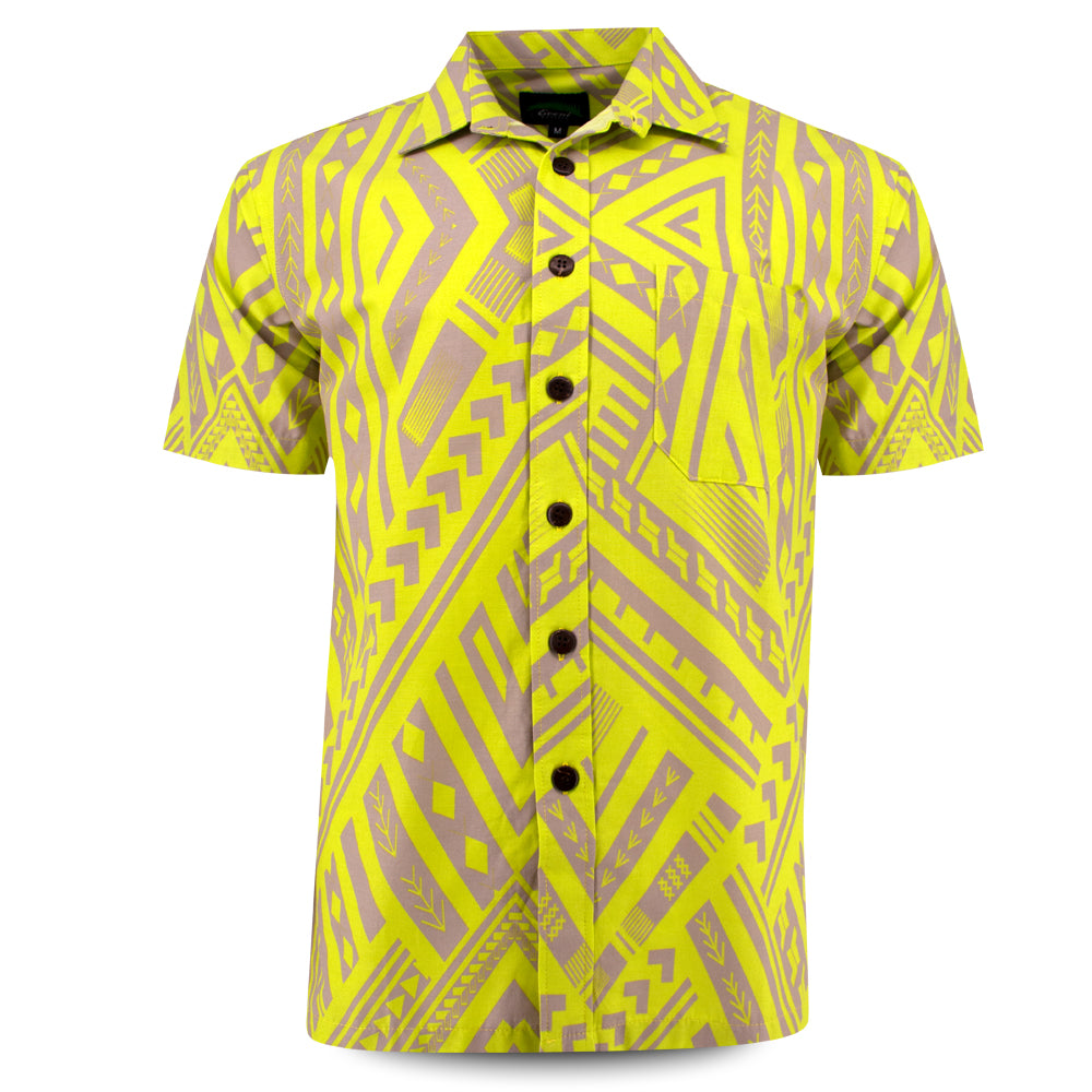 Eveni Pacific Men's Classic Shirt - Amber Lime
