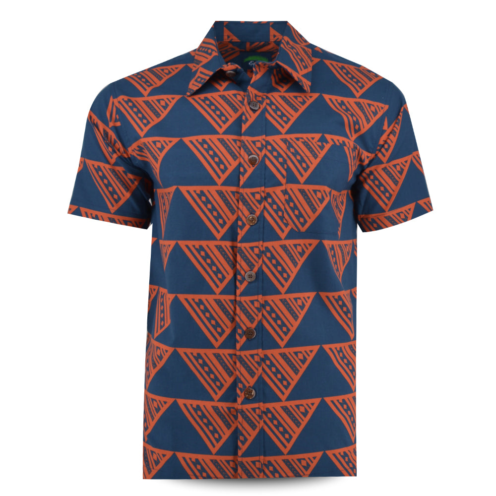 Eveni Pacific Men's Classic Shirt - Orange Pepper