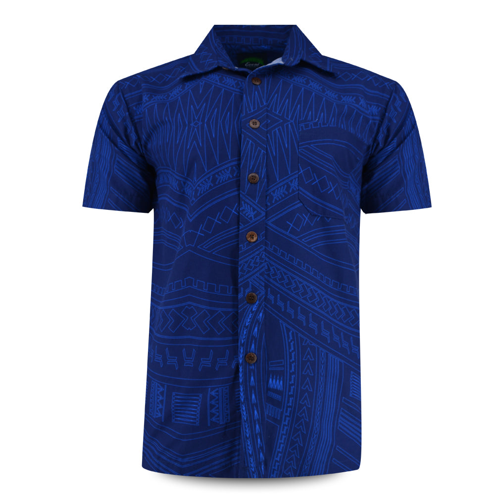 Eveni Pacific Men's Classic Shirt - Sage Blue
