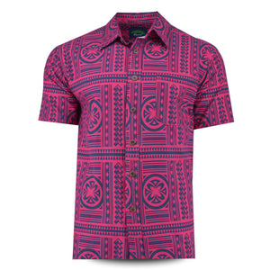 Eveni Pacific Men's Classic Shirt - Wine Berry