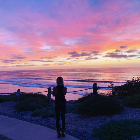 Sunset image with fitchick granola CEO