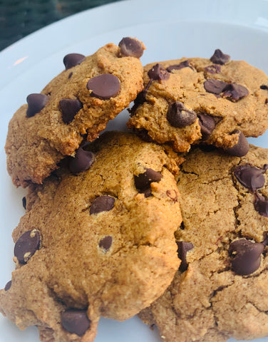 Pumpkin chocolate chip cookies vegan gluten free