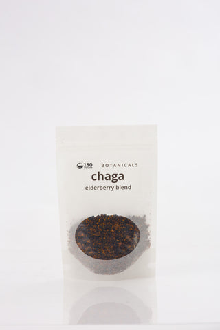 Canadian Chaga Elderberry Tea Blend, 90g Front - 180 Foods