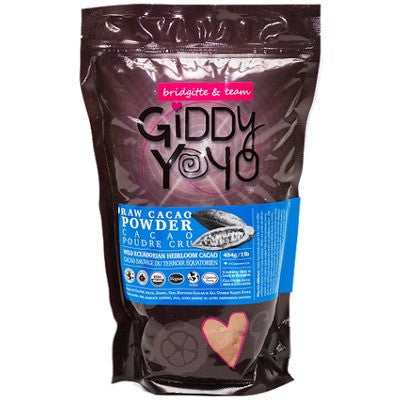 Giddy Yoyo Organic Raw Cacao Powder, 454g (1lb)