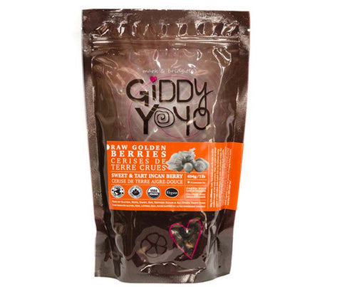 Giddy Yoyo Organic Raw Golden Berries, 454g (1lb)