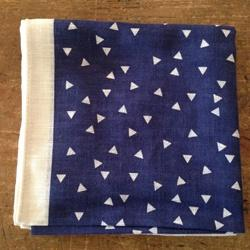 Soft handkerchief - Triangle Dark Blue