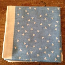 Soft handkerchief - Triangle Pale Blue