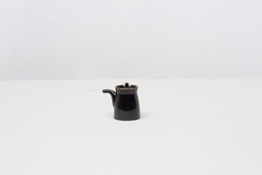 G Soy Sauce Bottle Black - CIBI Hakusan Porcelain