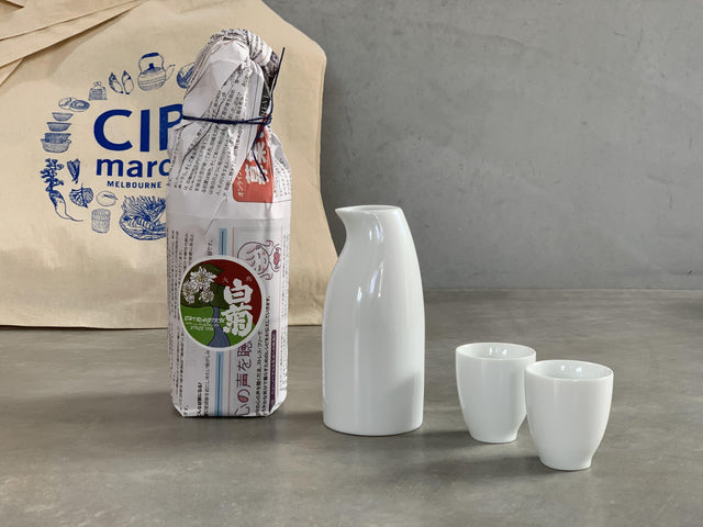 Set - Sake & Penguin Sake bottle & cups set - CIBI drink
