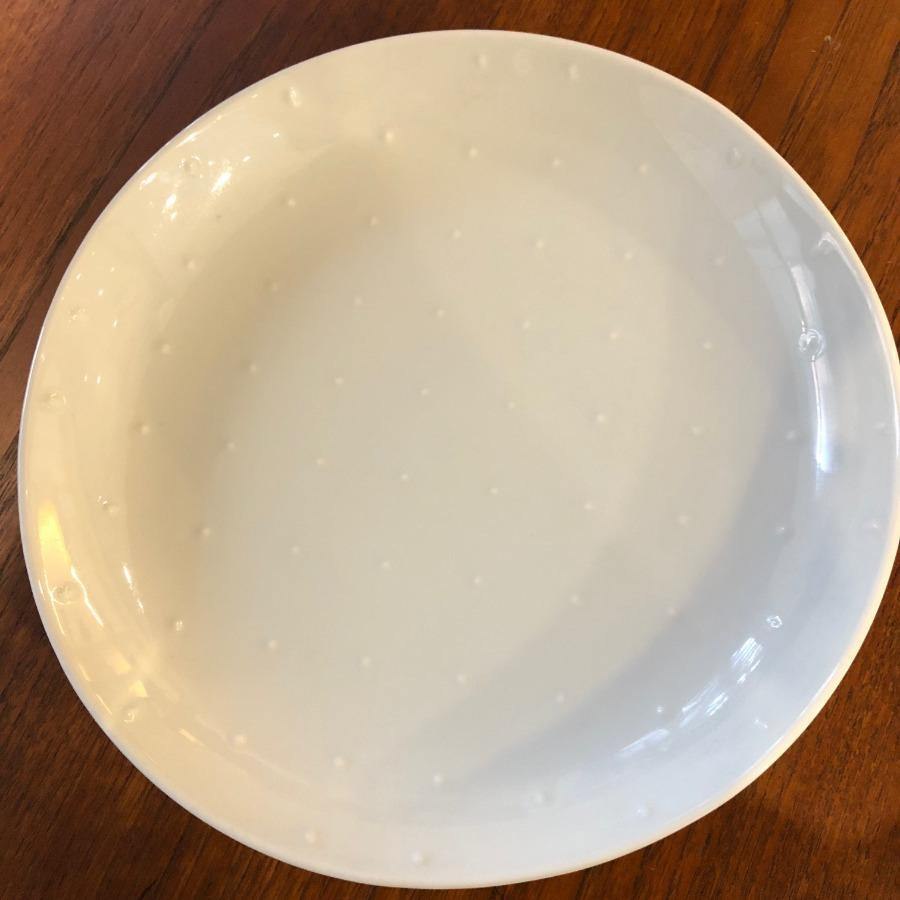 Hakusan Porcelain - White Shell Plate Series - 4 sizes - Grid Dot