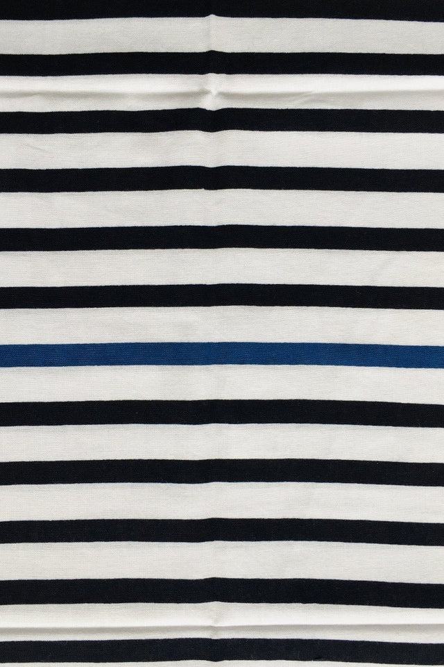 Tenugui for 2 / BY KAMAWANU Stripes white and dark blue
