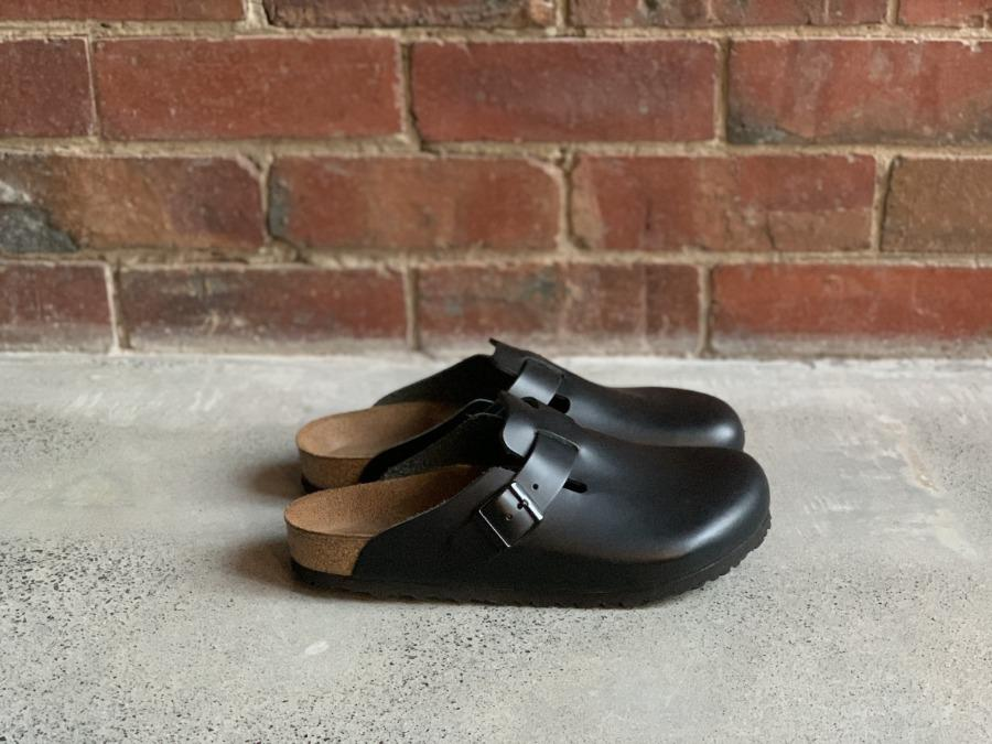Birkenstock Boston Leather Black CIBI