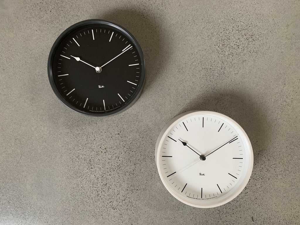 Riki Steel Clock Black