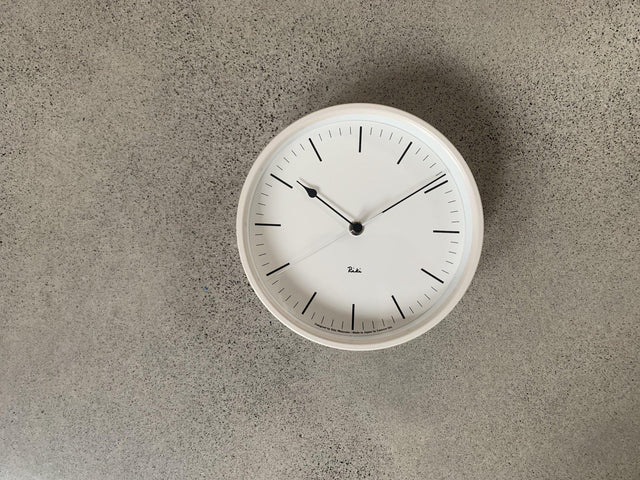 Riki Steel Clock White