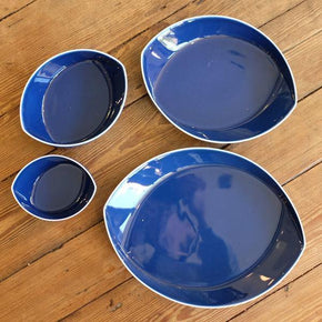 Leaves Plate Set (4pcs) Blue