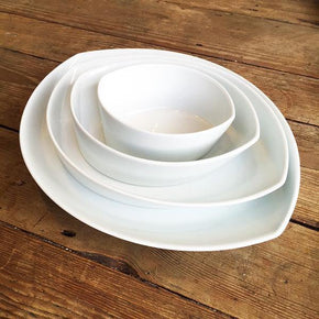Leaves Plate Set White