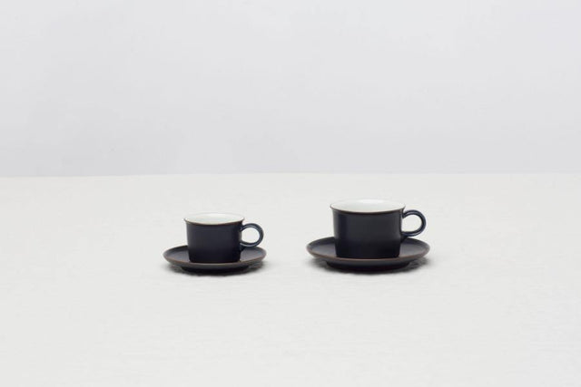 Navy Coffee Cup and Saucer
