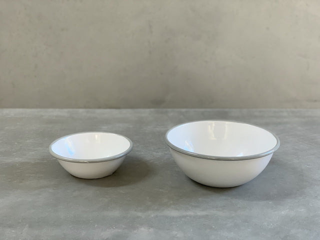Enamel Bowl Grey - CIBI