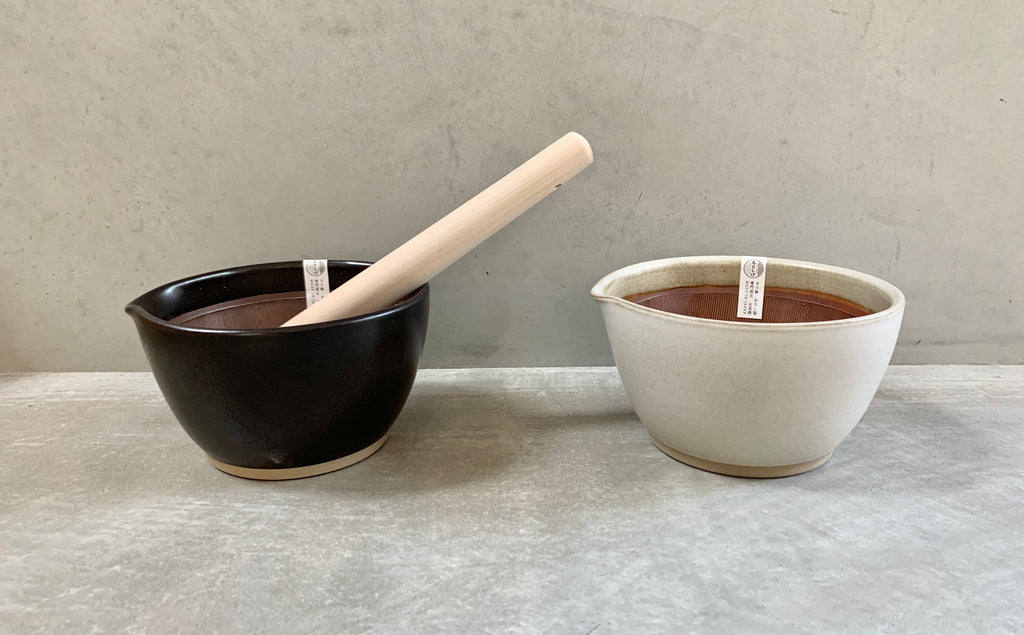 Suri Bowl (L) Motoshige Mortar and Pestle