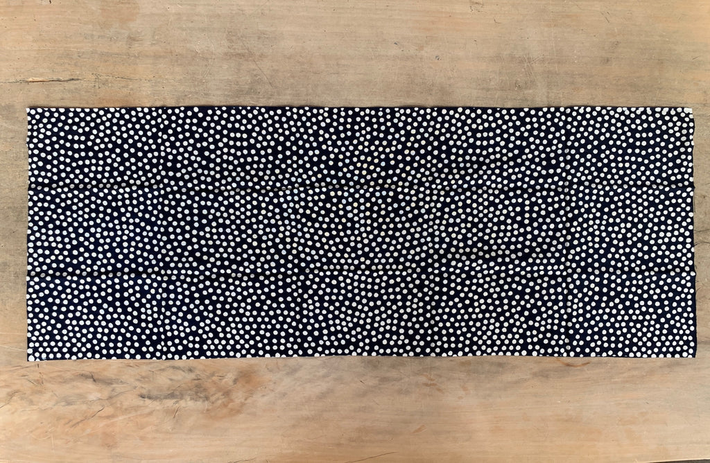 Tenugui - Arare (baige dots in black)