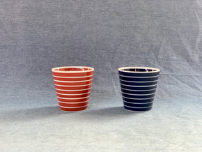 Arita Porcelain Lab Cup (Red w white stripes) - CIBI