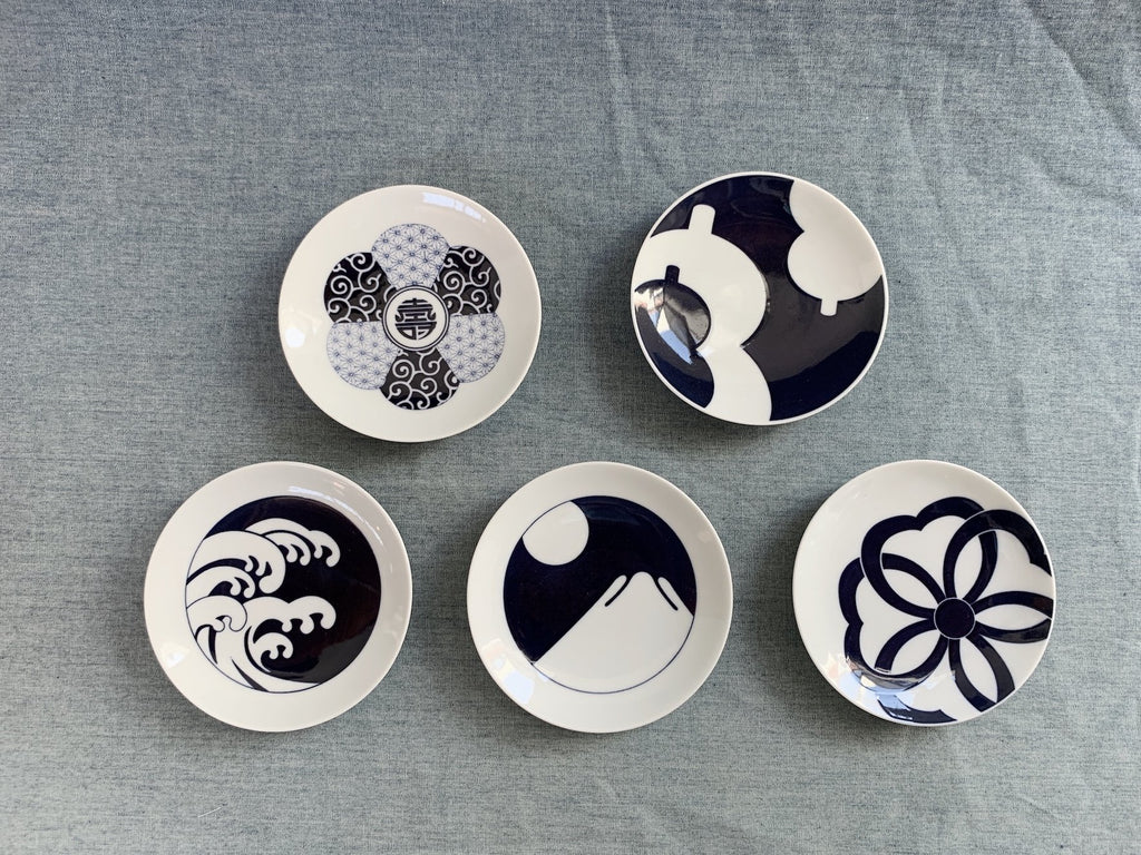 Komon Small Plate Japanese patterns - CIBI