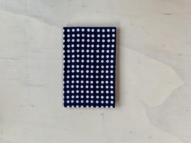 dot white in navy mame-shibori tenugui CIBI