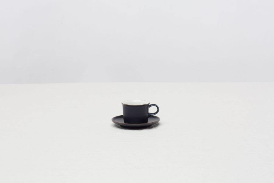 CIBI Navy Espresso cup and saucer