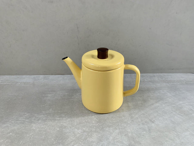 Pottle Yellow - Enamel kettle