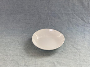 CIBI Hakusan Porcelain White Shell plate series circle dot