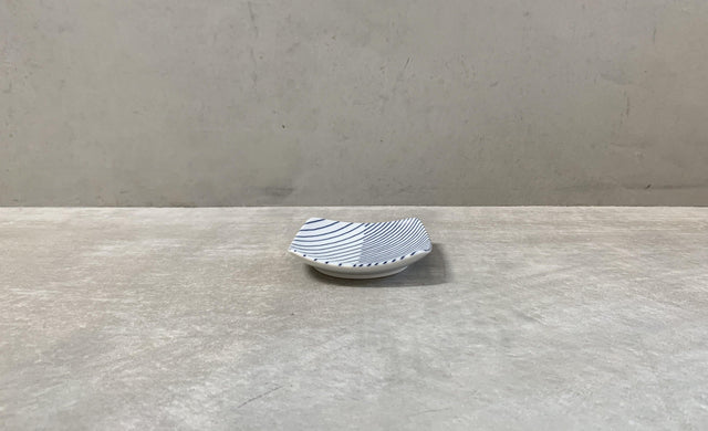 Stripes Plate Square (S) 10cm