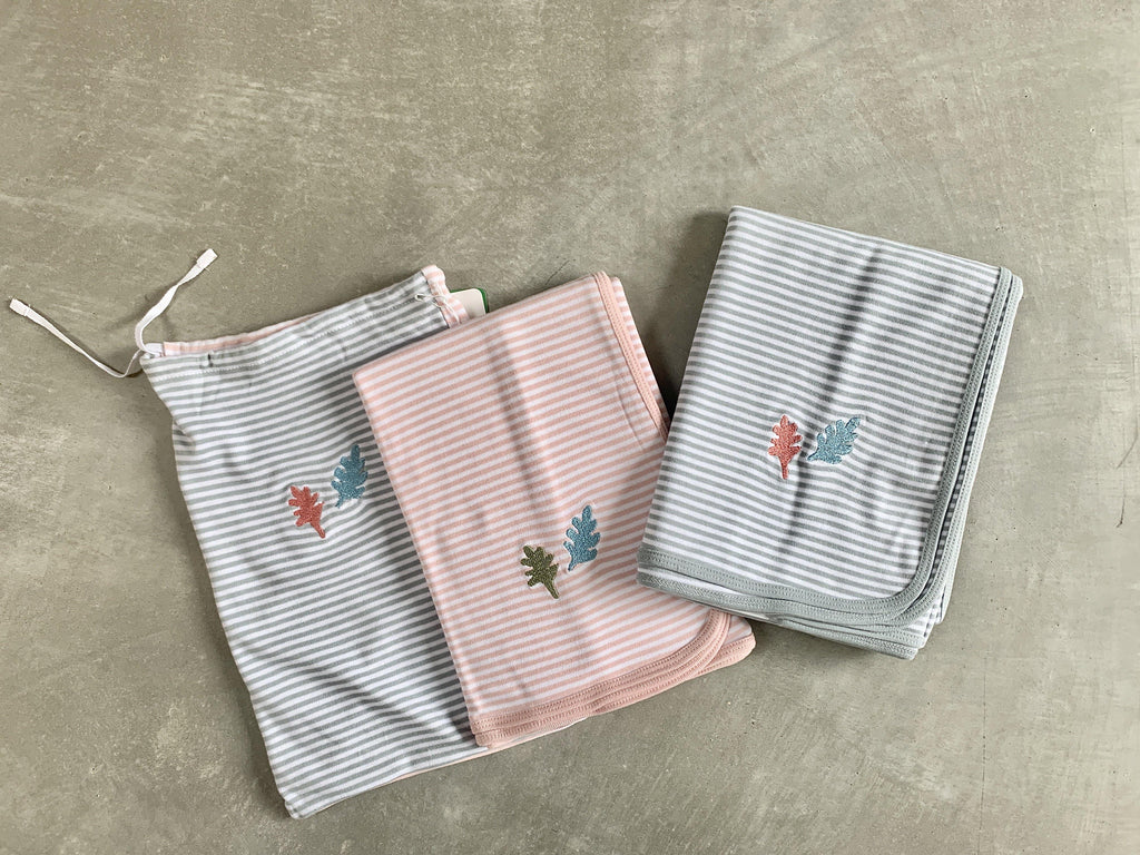 Sunday Ganim Baby Cotton Wrap blanket (2pcs) CIBI selection - PINK - CIBI Sunday Ganim