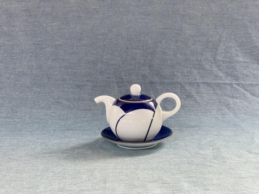 Japanese Plum Sauce Bottle and Saucer