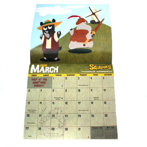 Squshies Calendar- Don Quixote