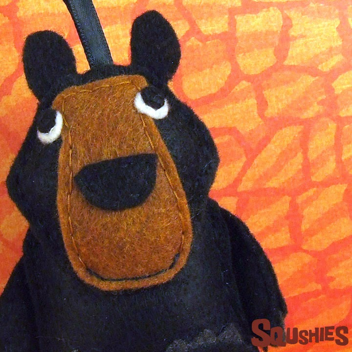 felt black bear ornament