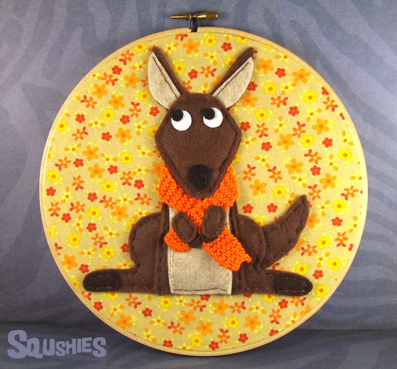 kangaroo wall art