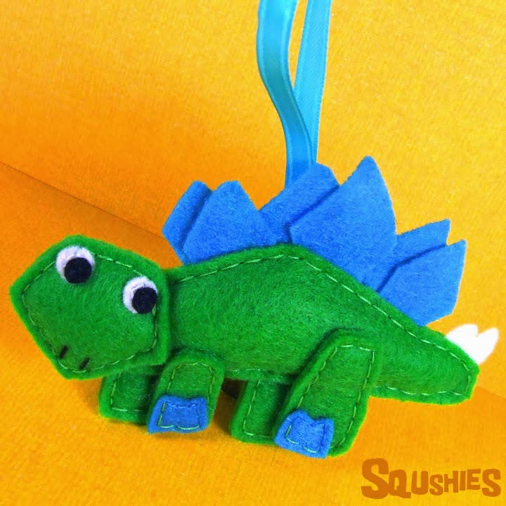 felt dinosaur ornament