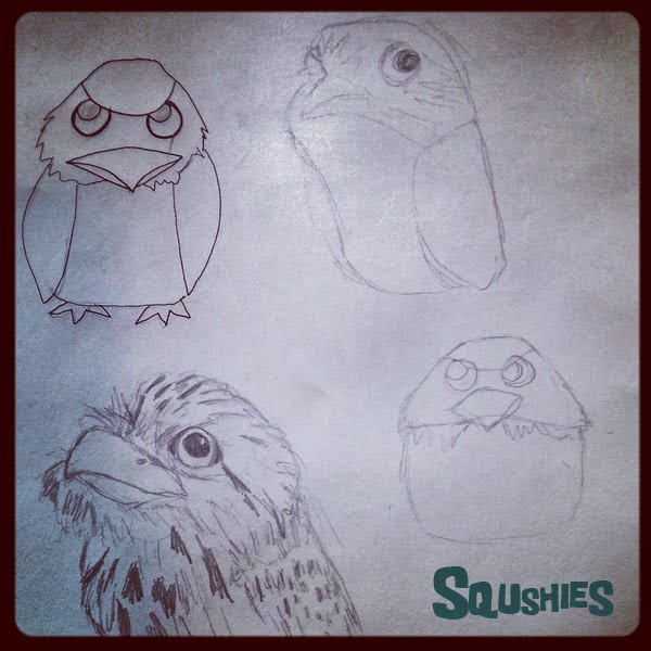 tawny frogmouth doodle