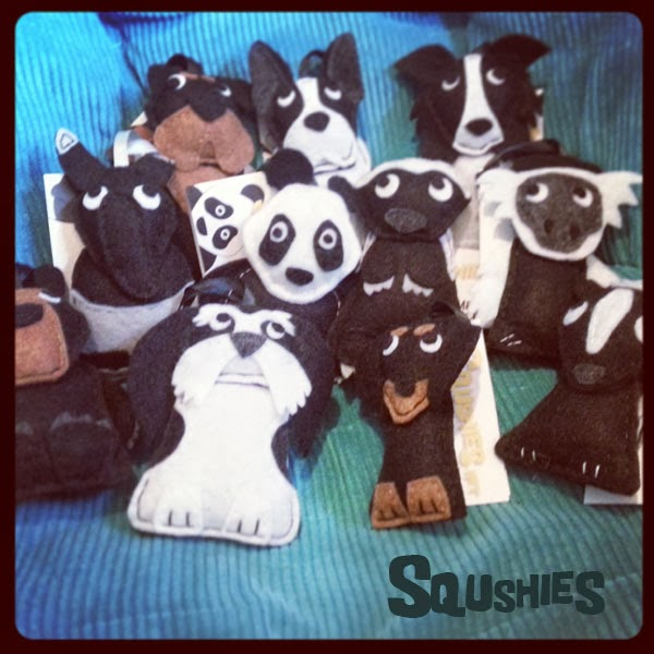 black felt animals