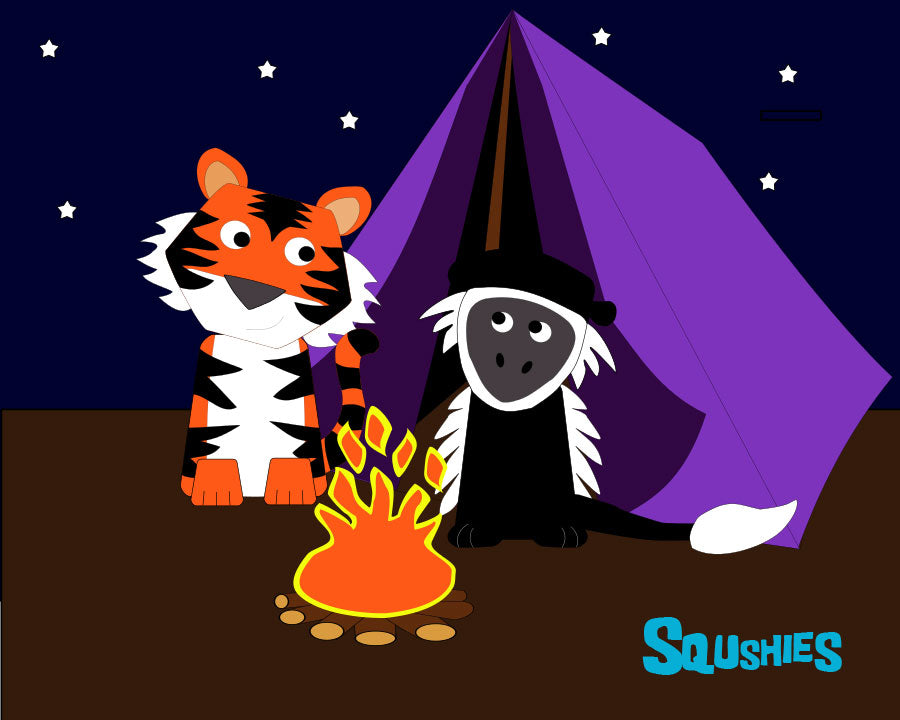 tiger and monkey camping