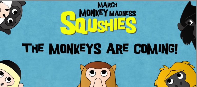 squshies march monkey madness