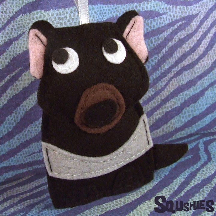 felt Tasmanian Devil ornament