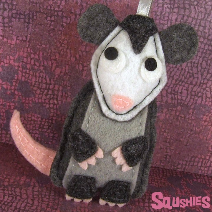 felt animal ornament