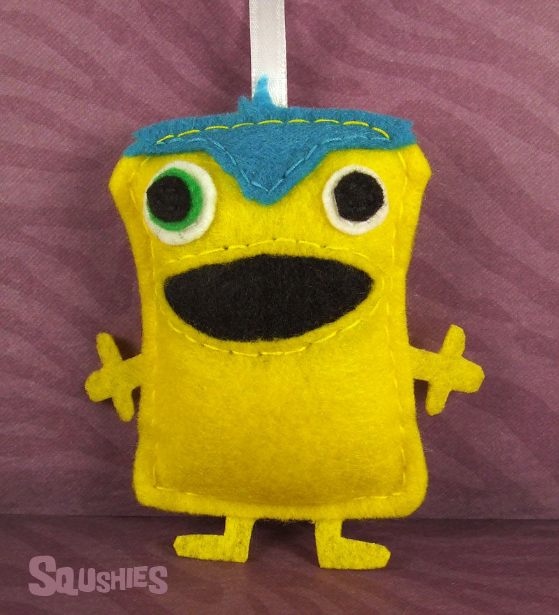felt monster ornament