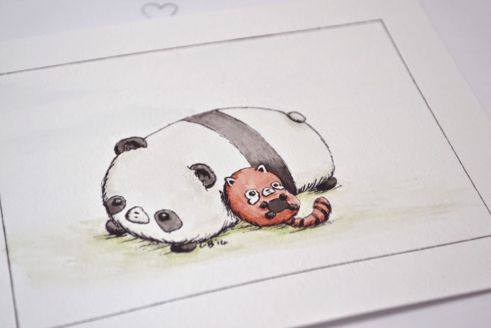 Mohu -Panda Friends Watercolor