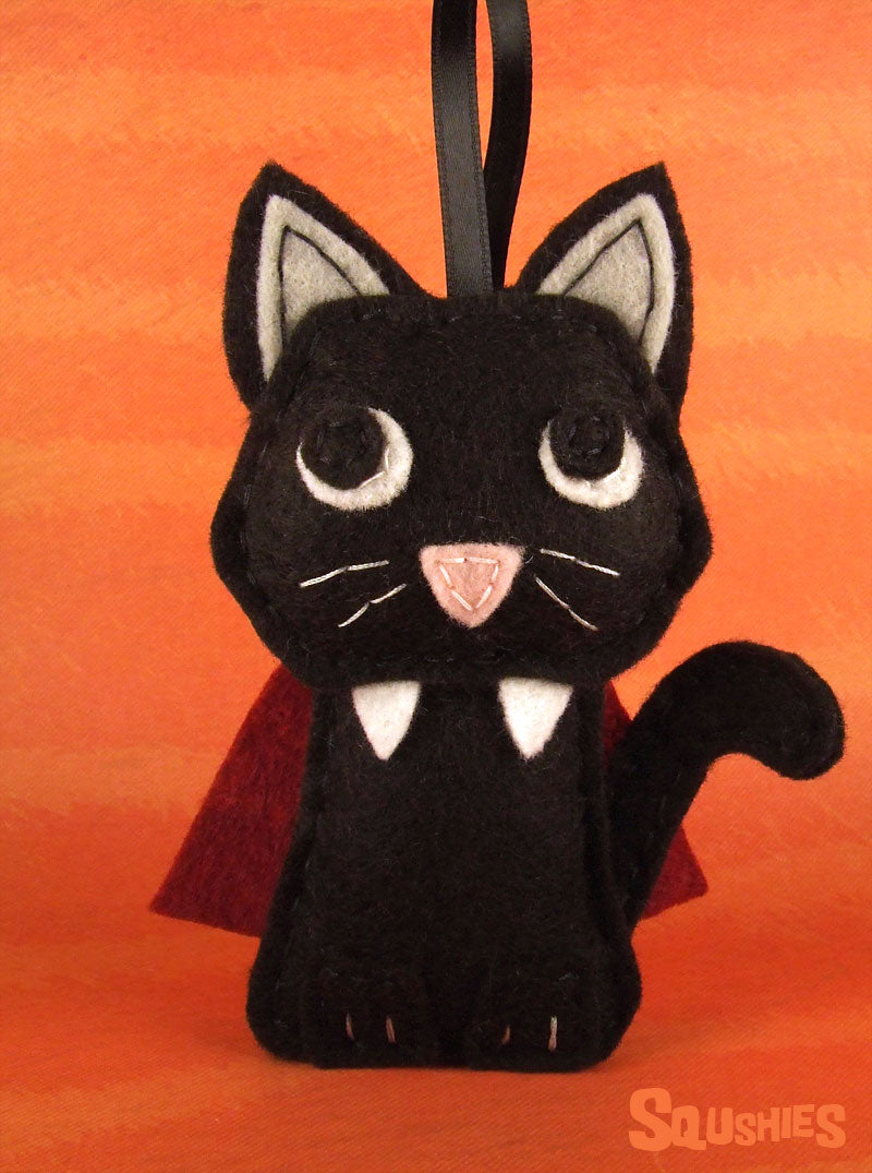 vampire cat ornament