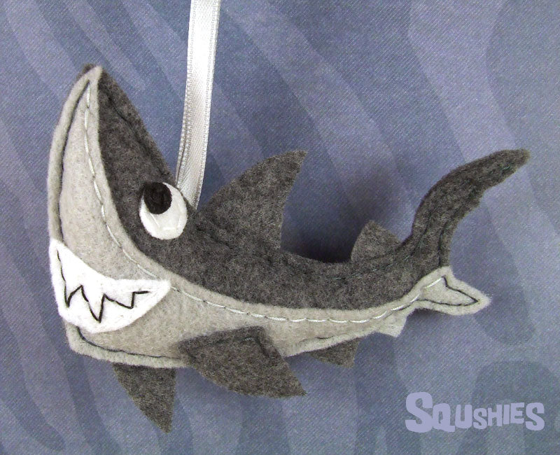 felt shark ornament